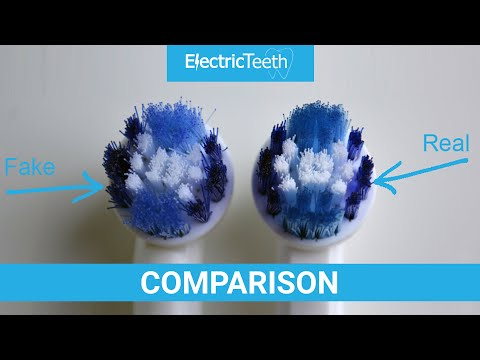 Fake v Real Oral-B Brush Heads