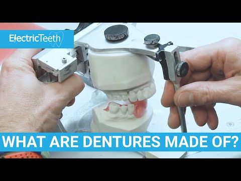 What are false teeth & dentures made of?