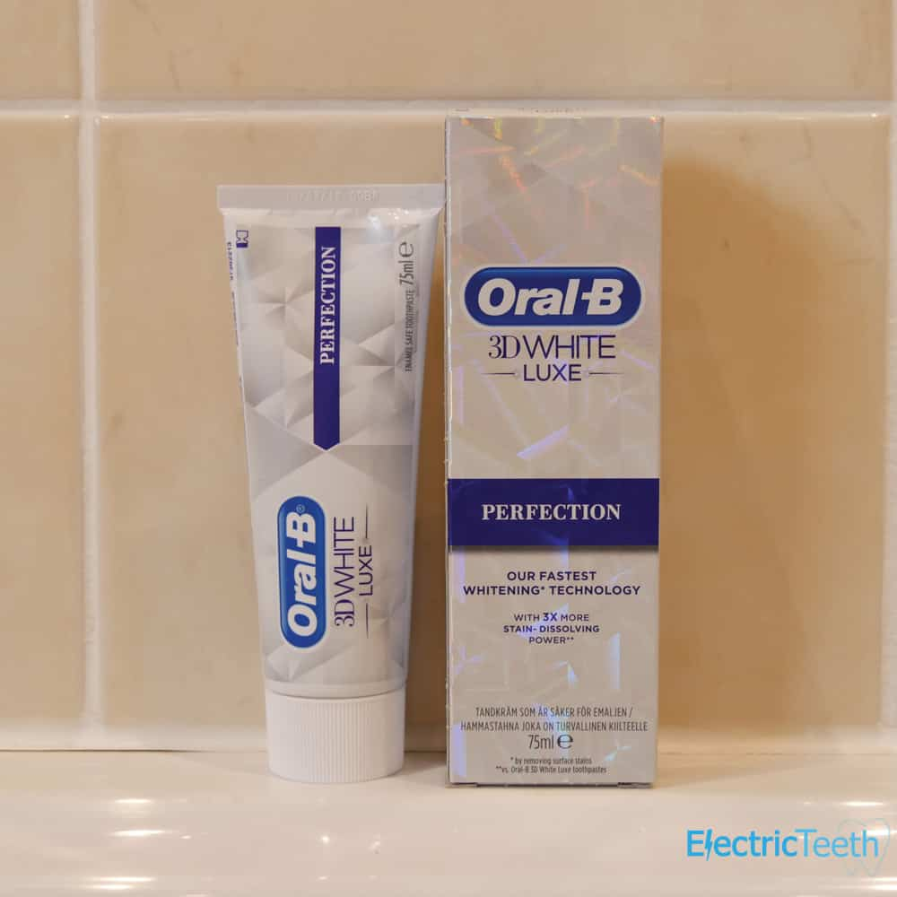 Oral-B 3D White Luxe Perfection Toothpaste Review - Electric Teeth