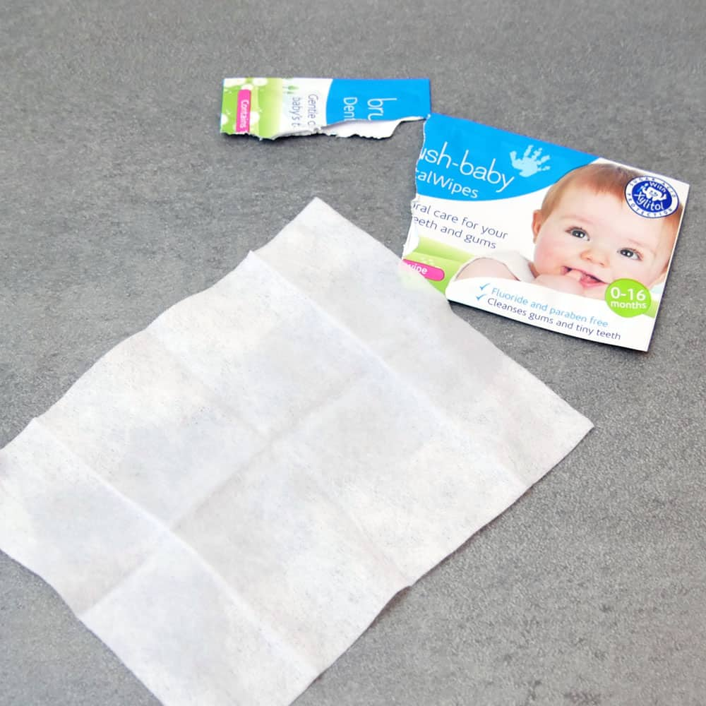 Photo of the brush baby dental wipes