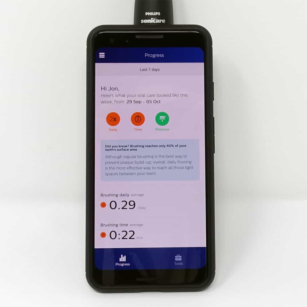 Sonicare ExpertClean smartphone app