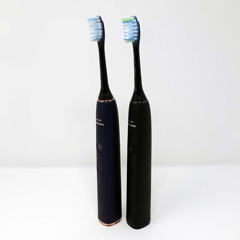 Sonicare DiamondClean stood next to DiamondClean Smart
