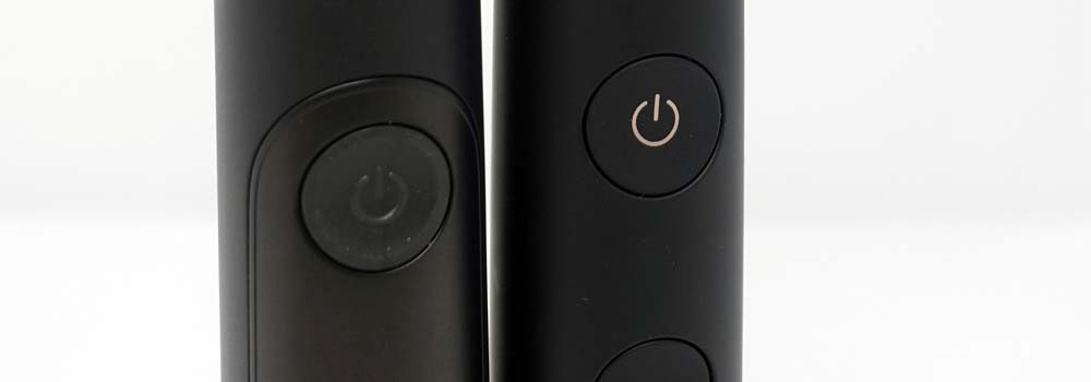 Power buttons on Sonicare toothbrushes