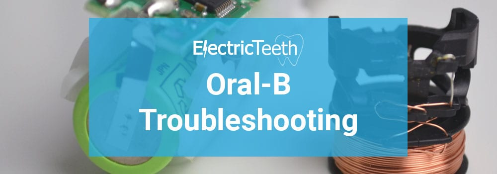 Oral-B electric toothbrush troubleshooting header image