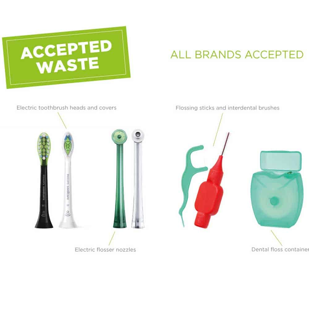 Philips Dental Care Recycling Accepted Waste