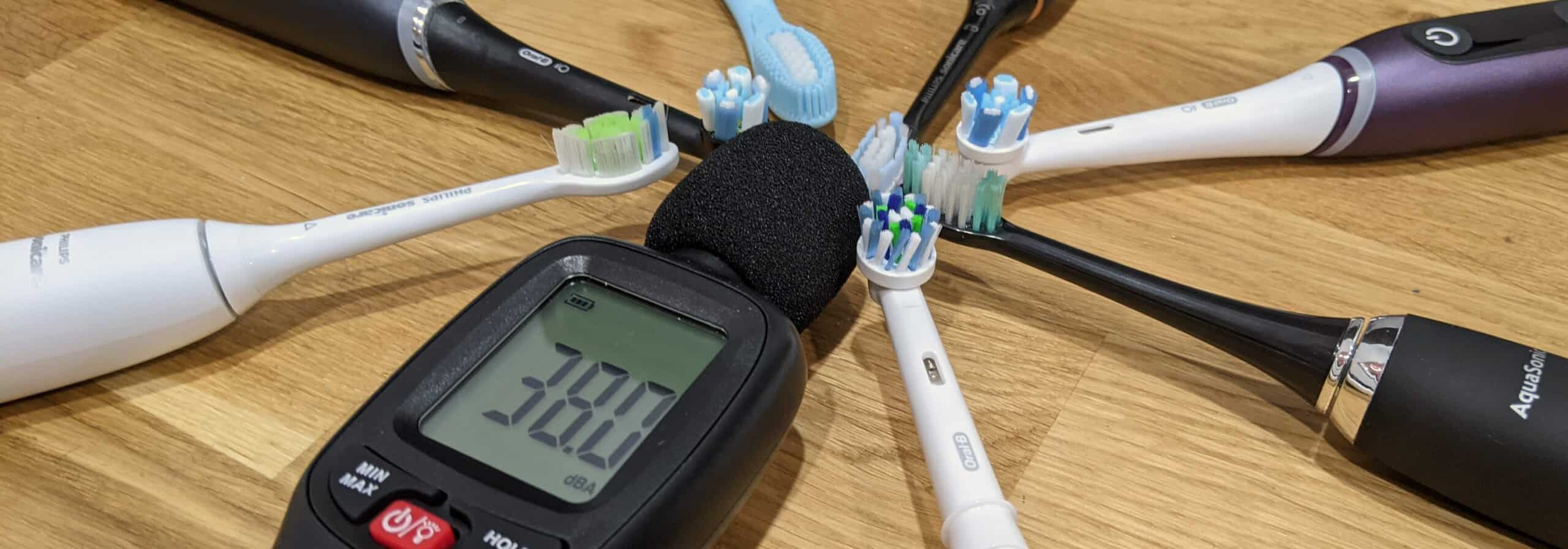 Electric Toothbrushes with Decibel Meter