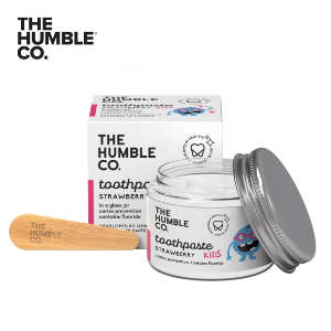 The Humble Co Toothpaste in a Jar Kids Strawberry with Fluoride