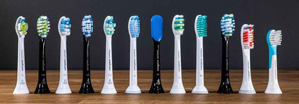 Sonicare brush head range
