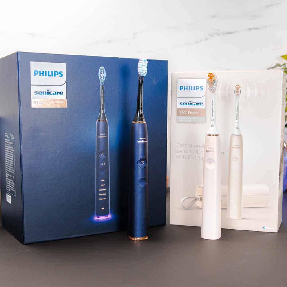 DiamondClean Smart & Prestige 9900 with retail boxes
