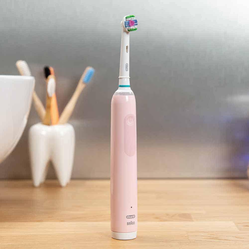 Oral-B Pro 3 3500 Pink Stood Upright