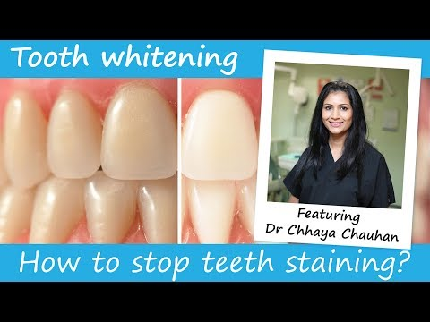 How to stop teeth from staining