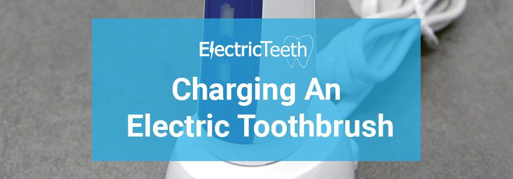 Charging an electric toothbrush