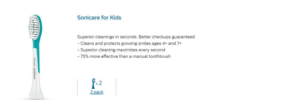 Sonicare For Kids Brush Heads
