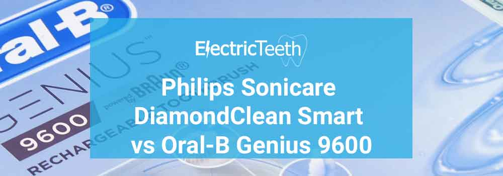 Oral-B Genius 9600 vs Sonicare DiamondClean Smart 1