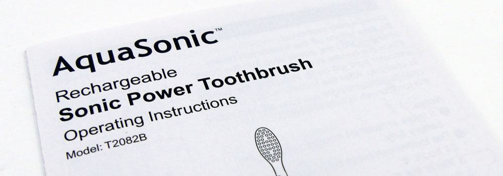 AquaSonic toothbrush user manual