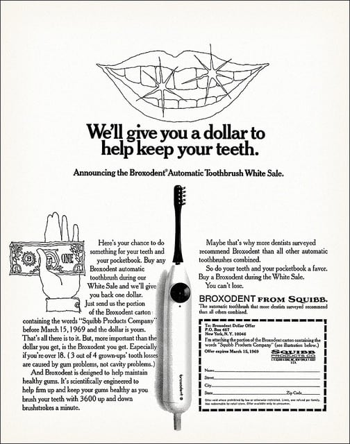Advert for Broxodent electric toothbrush