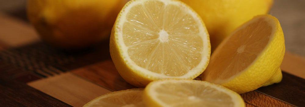 Lemon halves and slices