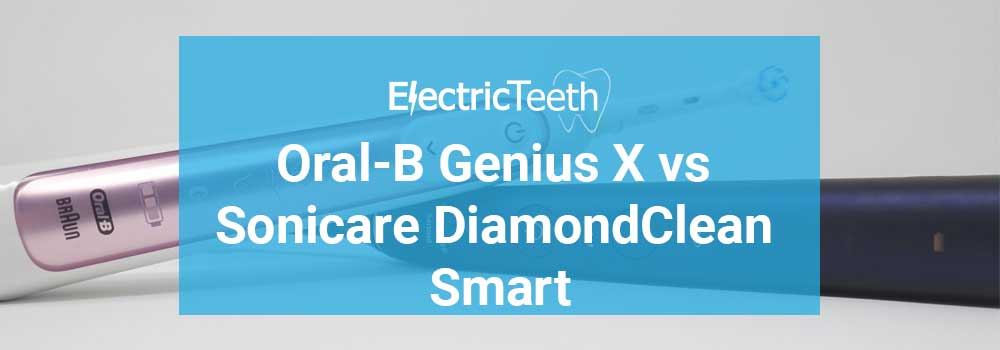 Oral-B Genius X vs Sonicare DiamondClean Smart 17