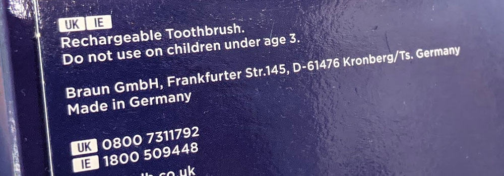 Made In Germany Electric Toothbrush