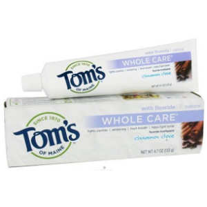 tom's of main whole care toothpaste cinnamon